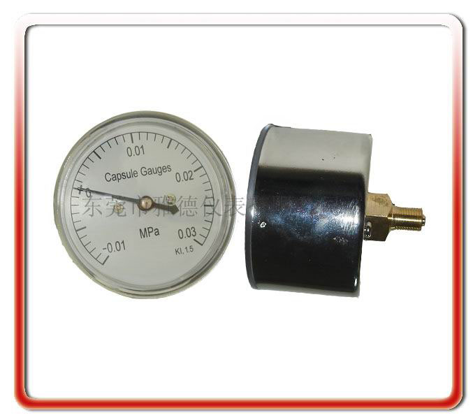 60MM軸向正負壓微壓表