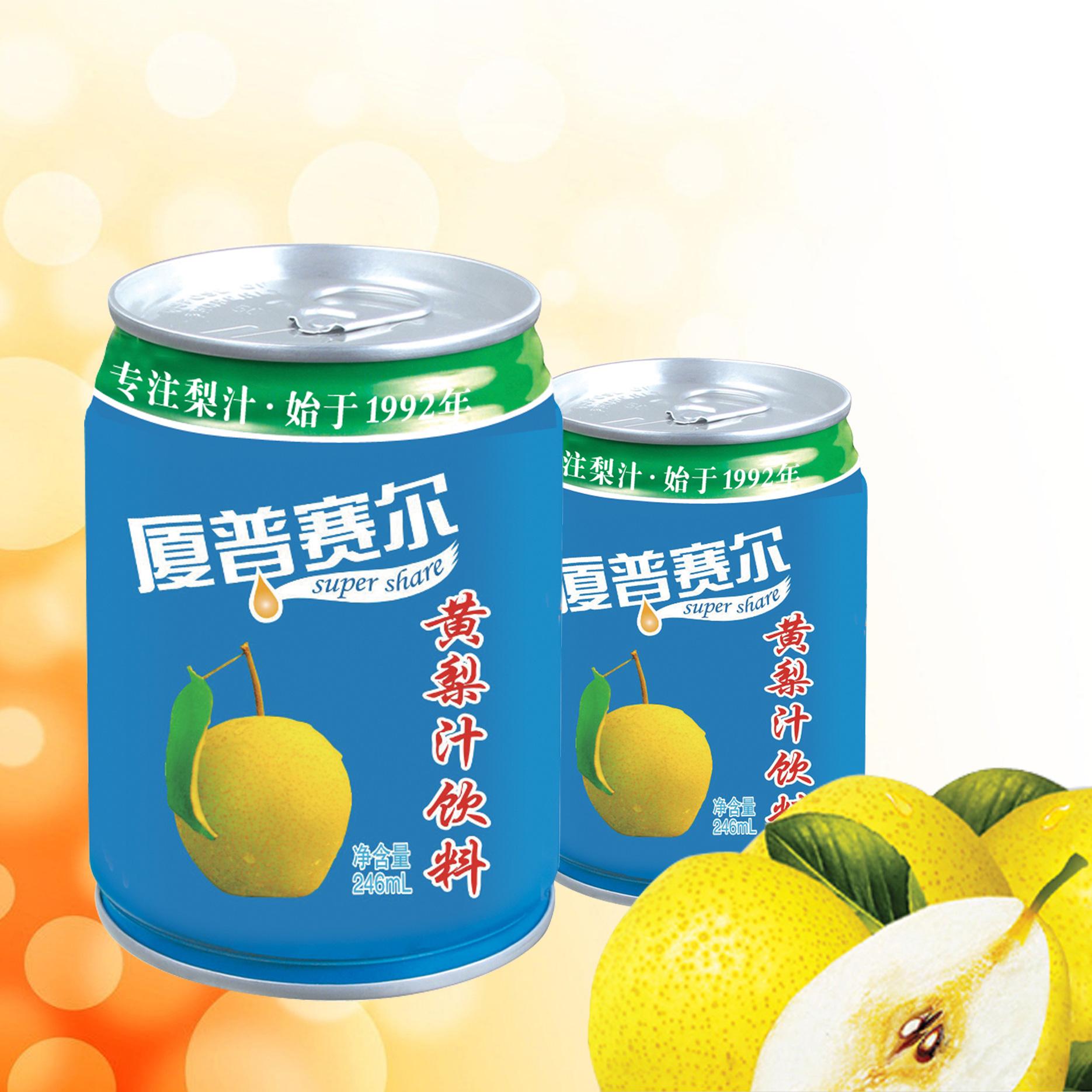 206易拉罐黄梨汁饮料