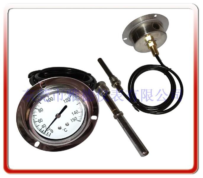 60MM軸向帶法蘭帶軟管壓力式溫度計