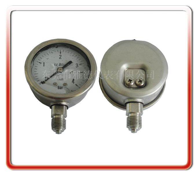 60MM徑向全不銹鋼壓力表