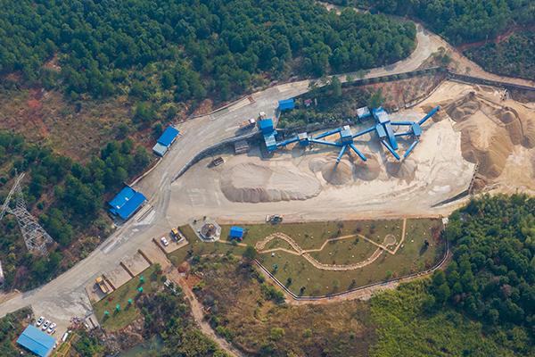 湖南省鑫之巖工貿有限公司最美綠色礦山綜合開發利用掠影