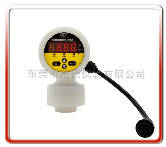 一體隔膜式全PVDF數顯電接點壓力表