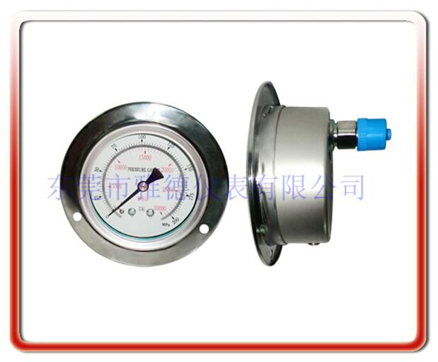 100軸向全不銹鋼高壓壓力表