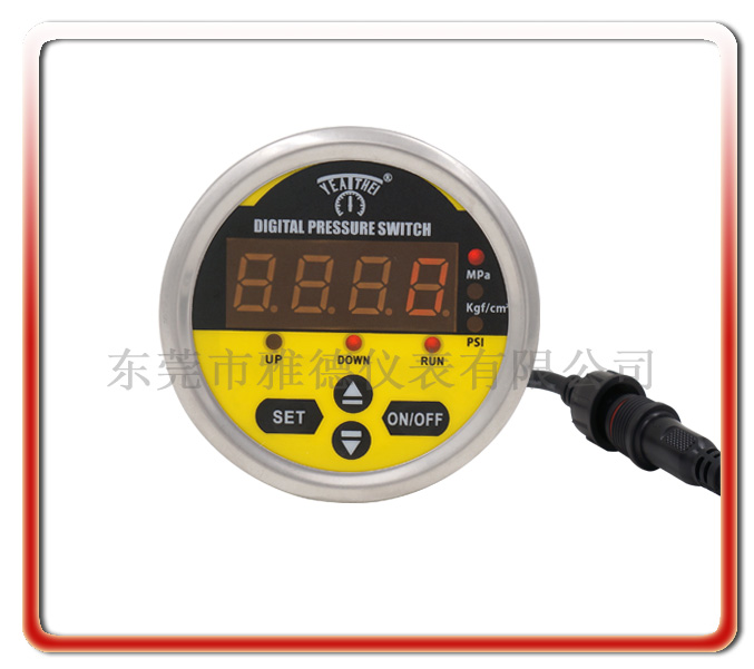 60MM軸向全鋼智能控制數顯壓力表