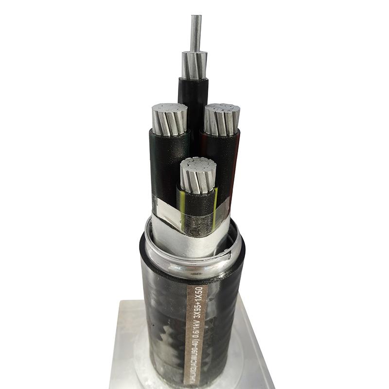 鋁合金電纜YJHLV82ACWU90-40) 0.6/1kV 3X95+ 1X50