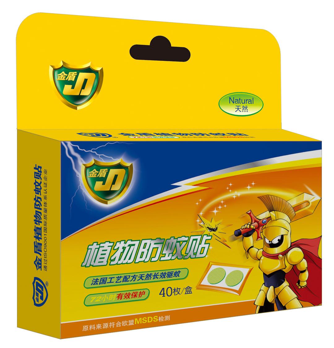 金盾植物防蚊貼40枚
