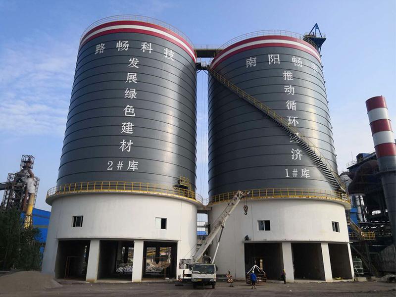 龍成集團2x1萬噸鋼板倉工程