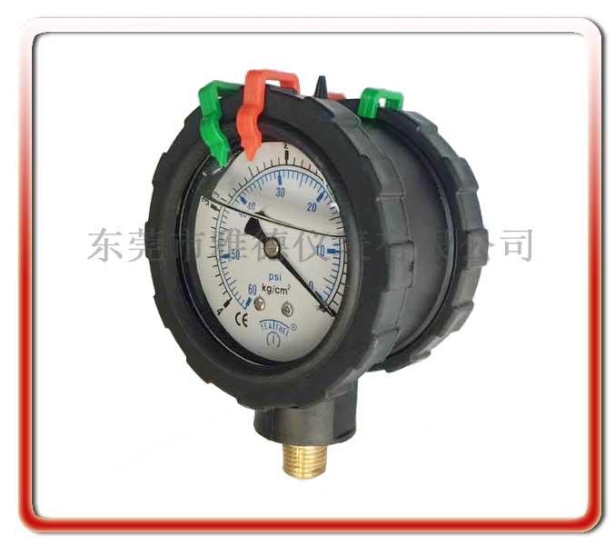 雙面PP充油壓力表
