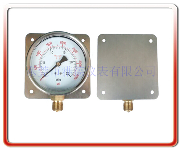 100MM徑向帶后邊耐震油壓表
