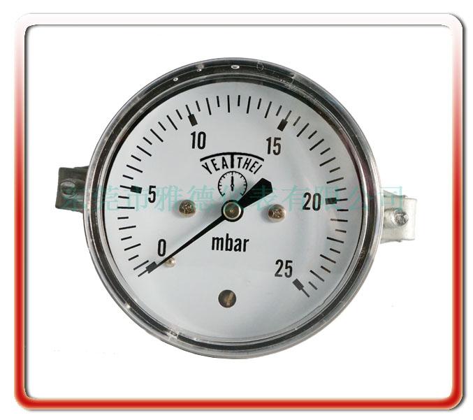 60MM軸向帶支架全鋼微壓表