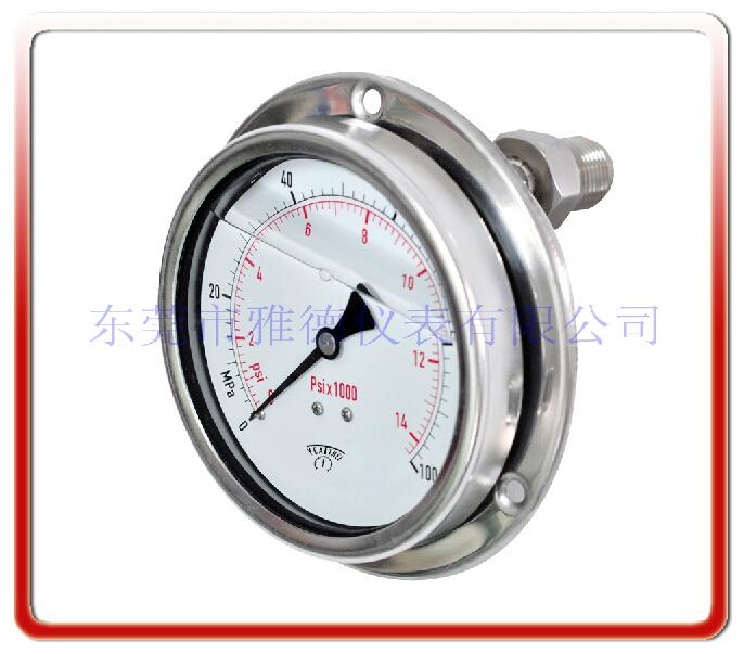 耐震型軸向安裝隔膜壓力表