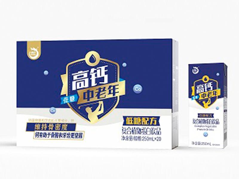 澳利龙高钙低糖中老年花生奶250ml*20瓶