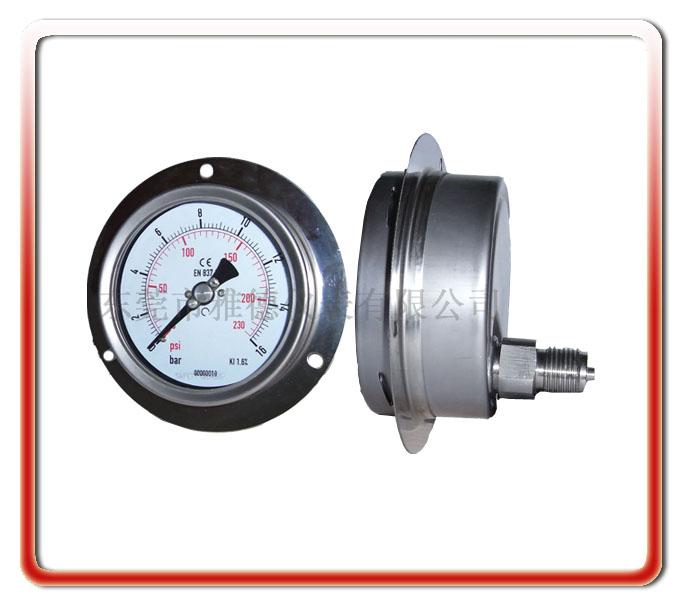 100MM軸向帶邊全鋼壓力表
