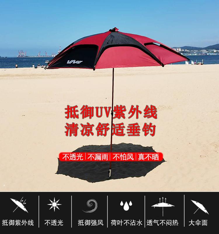 外貿傘紅黑色