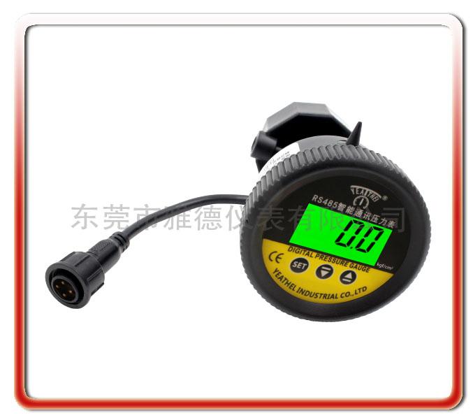 軸向PP隔膜式智能通訊RS485數顯壓力表