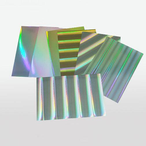 复合素面镭射-光柱镭射金、银卡纸