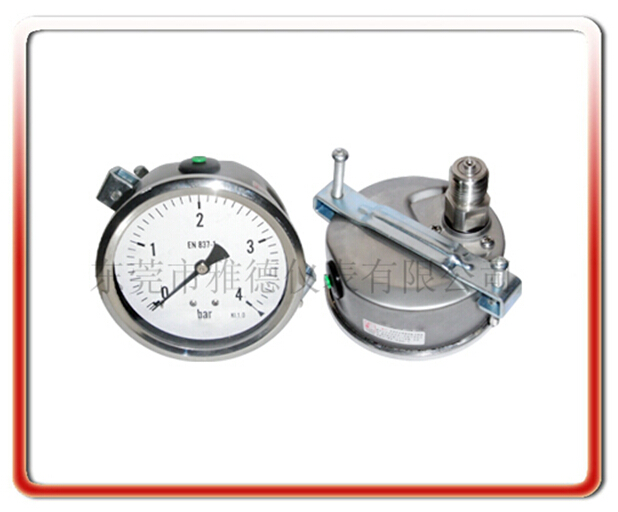 100MM軸向帶支架全鋼壓力表
