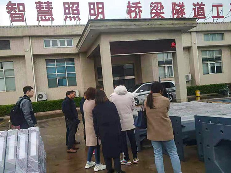 公司客户检查广州共杆质量,提出要求和整改措施