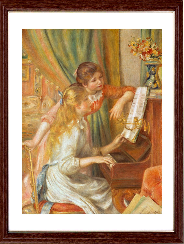 油畫  彈琴的女孩