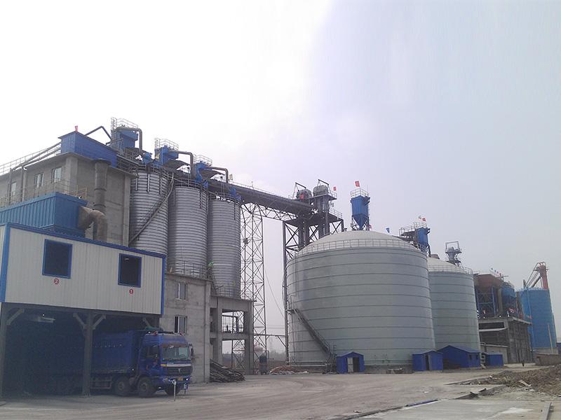 呼倫貝爾冀海4×1萬噸水泥鋼板倉工程