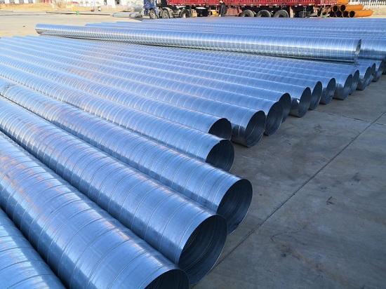 鹽山螺旋風管生產廠(保溫管外護套)