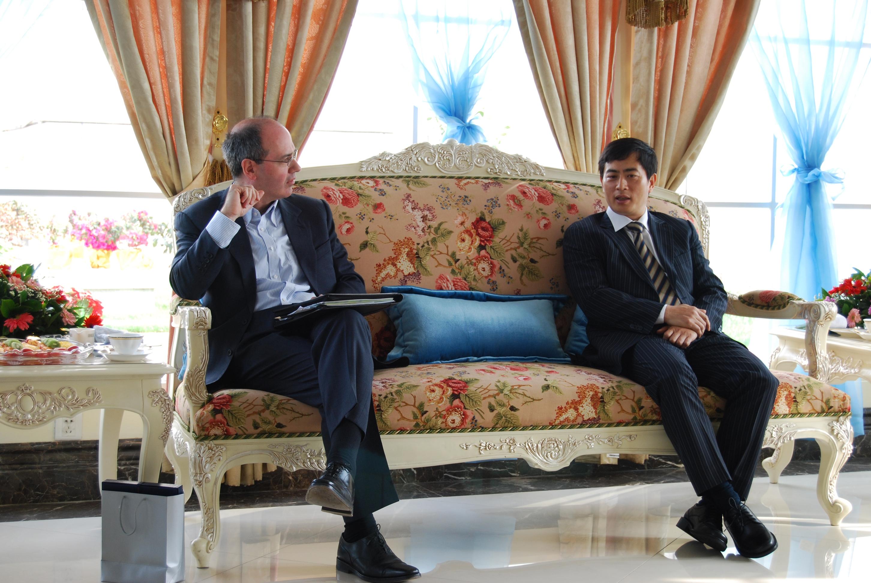 2009年陳總裁會見聚賢社與歐洲最大私募股權投資公司Bridgepoint高層訪問團