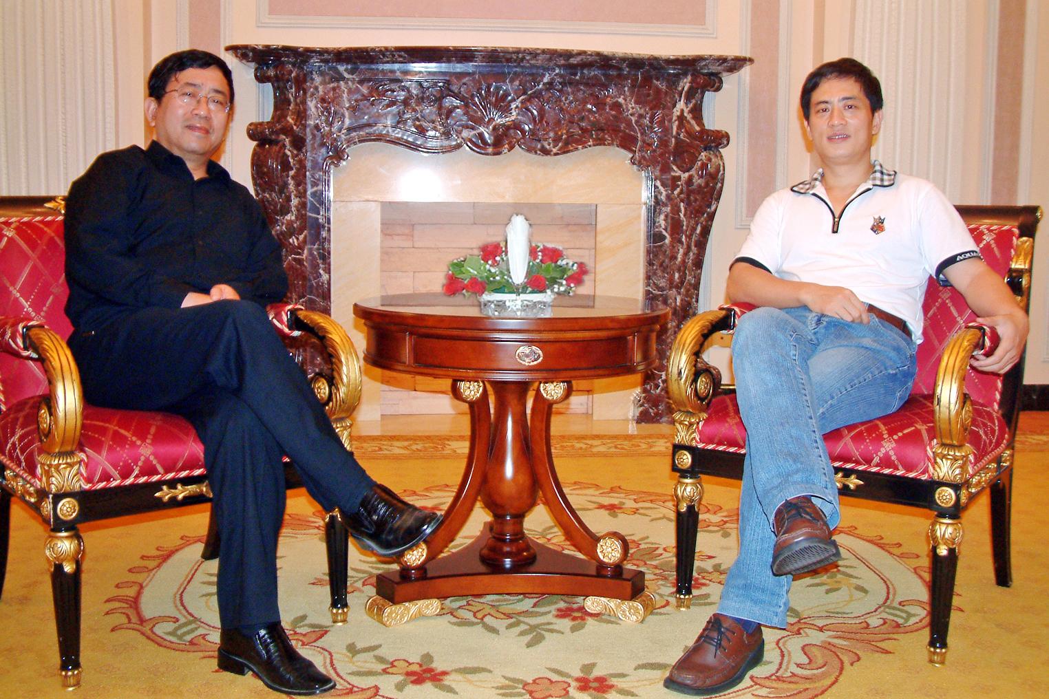 陳斌總裁會晤著名作家余秋雨先生