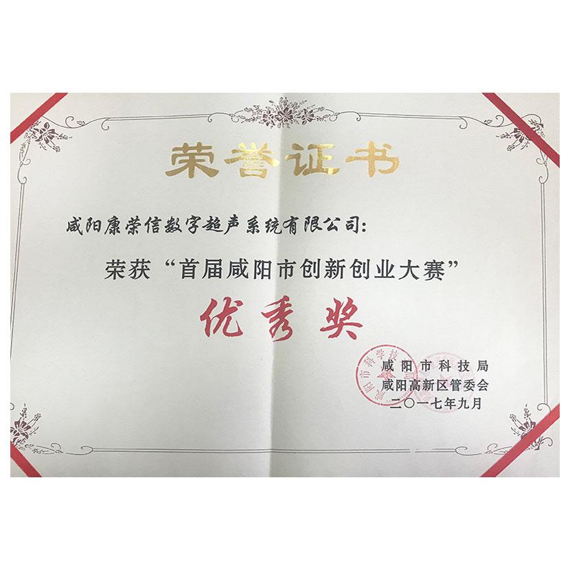 咸陽市創新創業大賽優秀獎