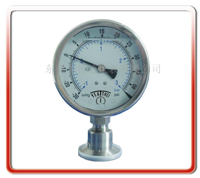 100MM衛生型真空壓力表