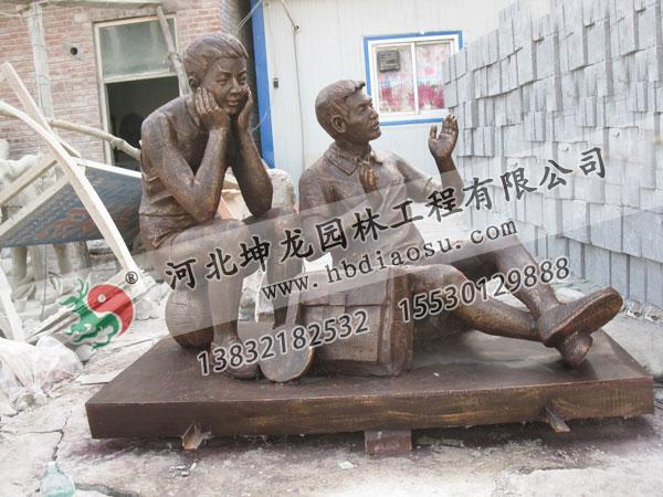 玻璃鋼人物雕塑026