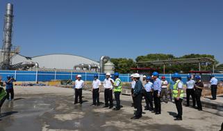 錢志剛等領導視察安亭污水處理廠三期項目