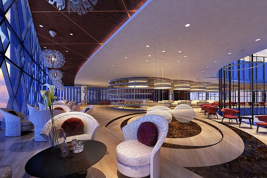 青島嶺海溫泉大酒店咖啡廳