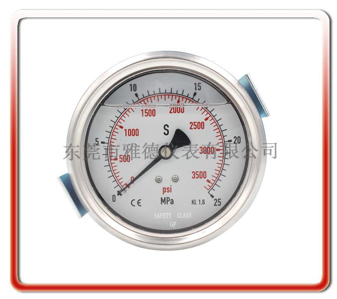 100mm軸向帶U型架德國款充油表
