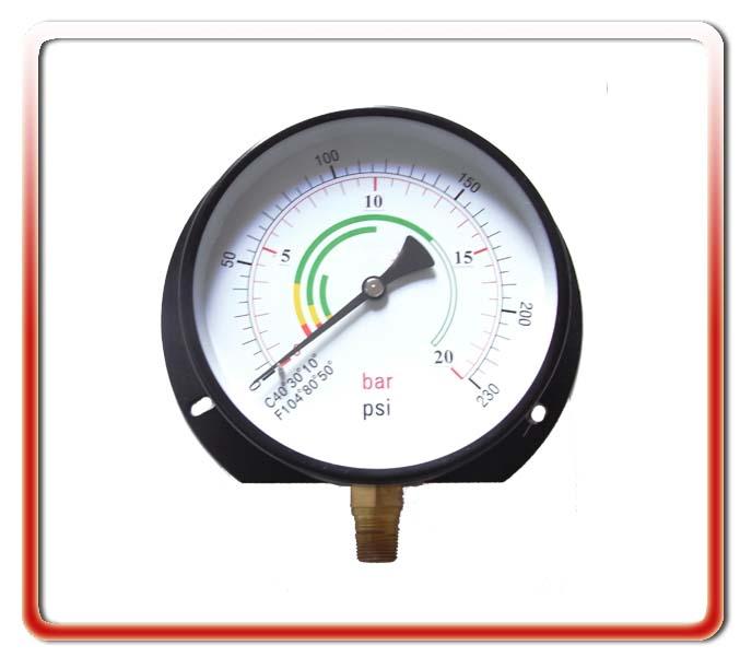 150MM徑向帶后邊氣壓表