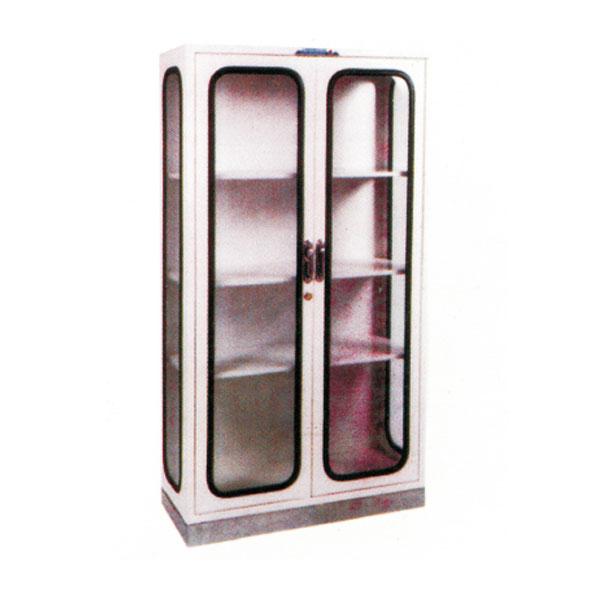 不銹鋼底座上面噴塑雙門器械柜