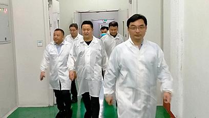 集團公司總裁王瑛一行到玉皇新能源慰問