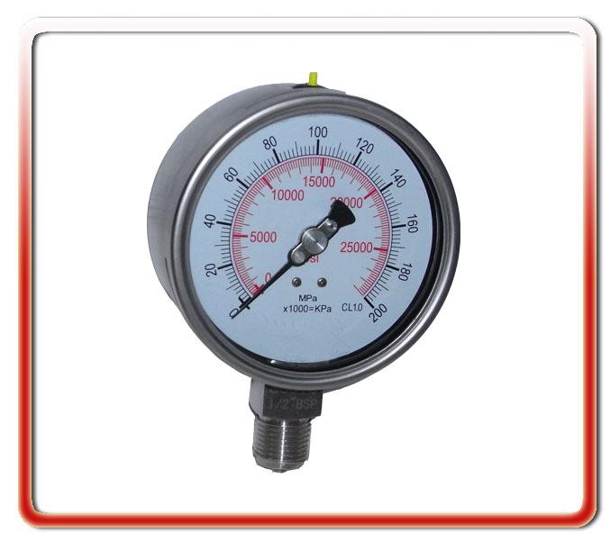 100MM徑向全鋼高壓壓力表
