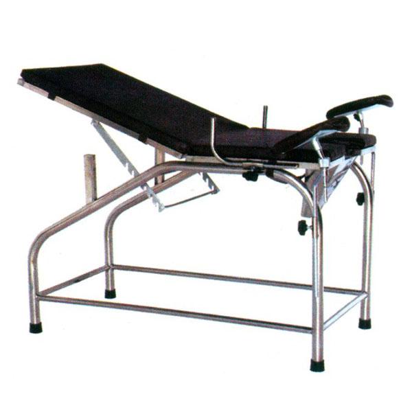 不銹鋼婦科診查床分:鋼制噴塑、二折