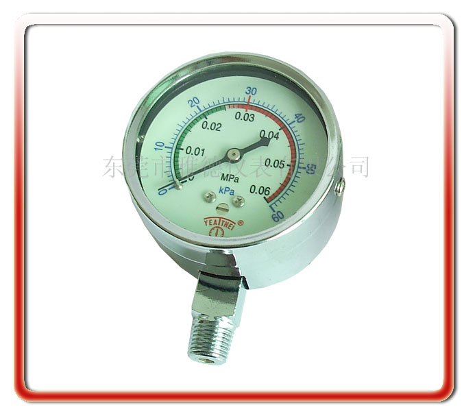 60MM徑向微壓表