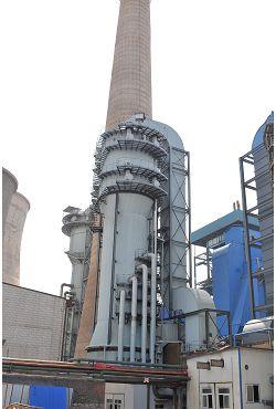 淄博熱電廠1*240t/h爐脫硫濕電工程
