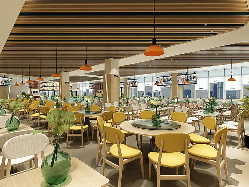 天賜員工食堂裝修設計案例