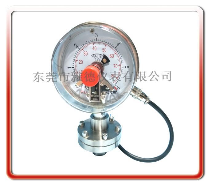 螺紋式電接點隔膜壓力表