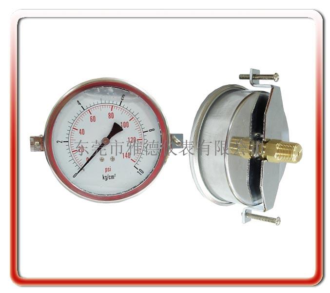 100MM軸向帶支架耐震油壓表