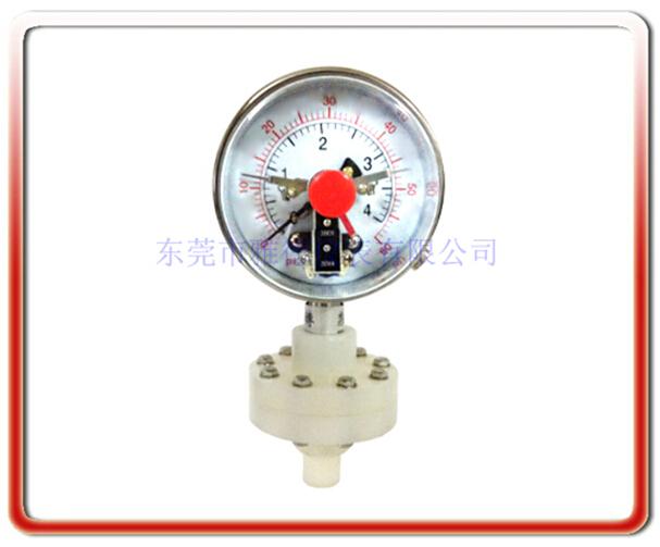 鐵氟龍電接點隔膜壓力表