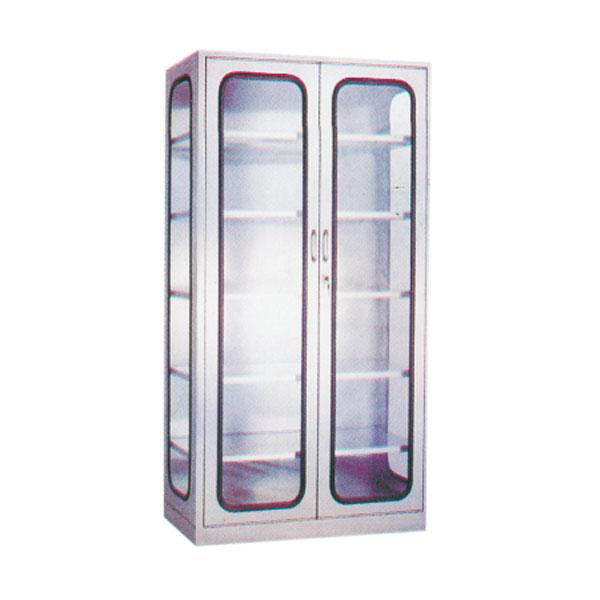 不銹鋼架雙門玻璃器械柜