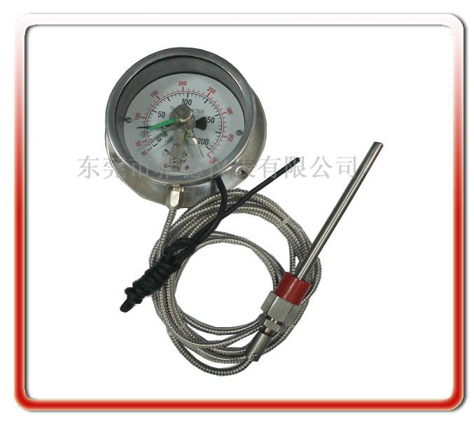 100MM徑向全鋼電接點壓力式溫度計