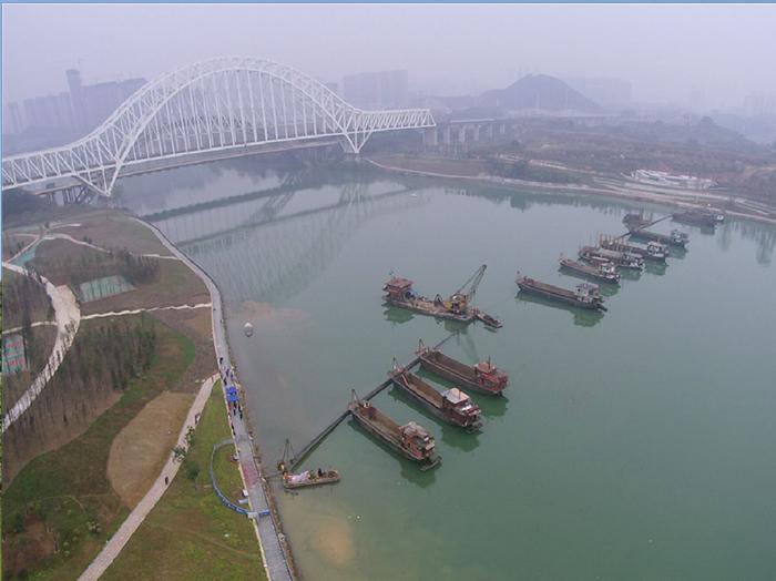南寧三岸大橋給水過江管工程