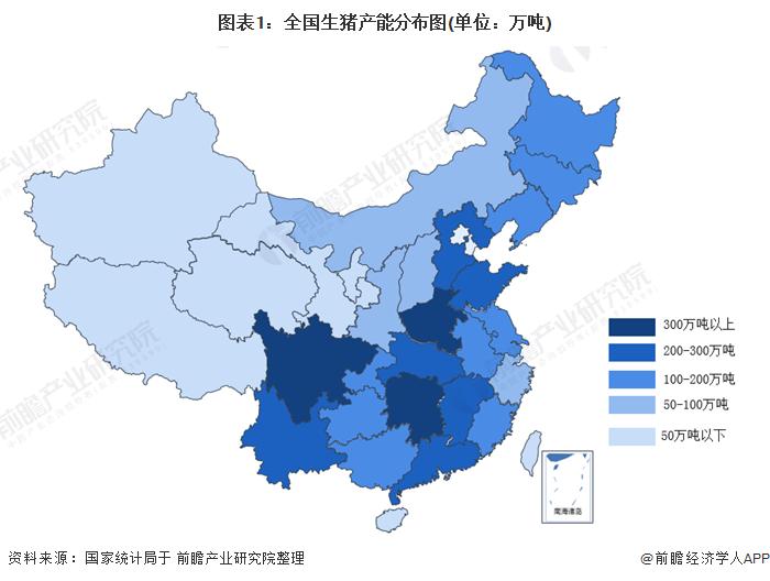 2020年中國31省市生豬產能匯總,部分地區或將逐步實現豬肉自由