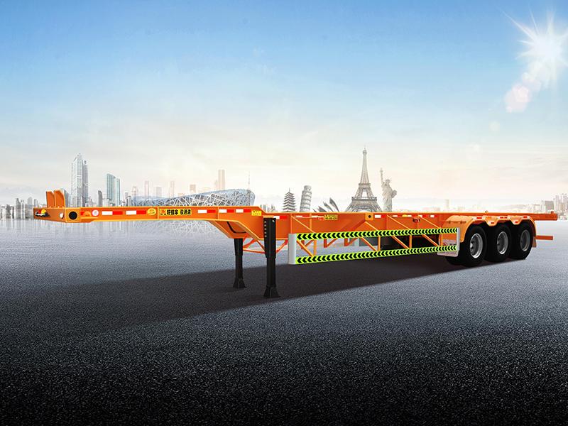 锋运系列-三轴鹅梁集装箱运输半挂车
