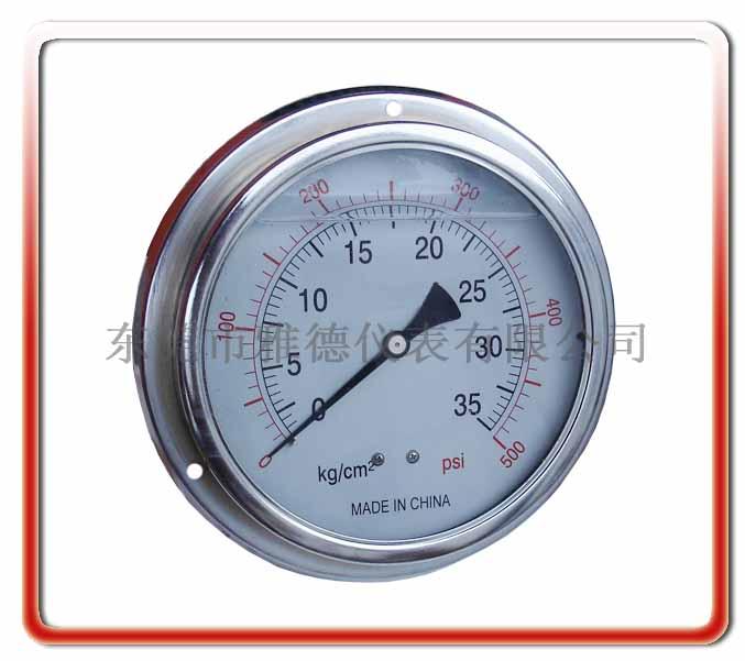150MM軸向帶邊耐震油壓表